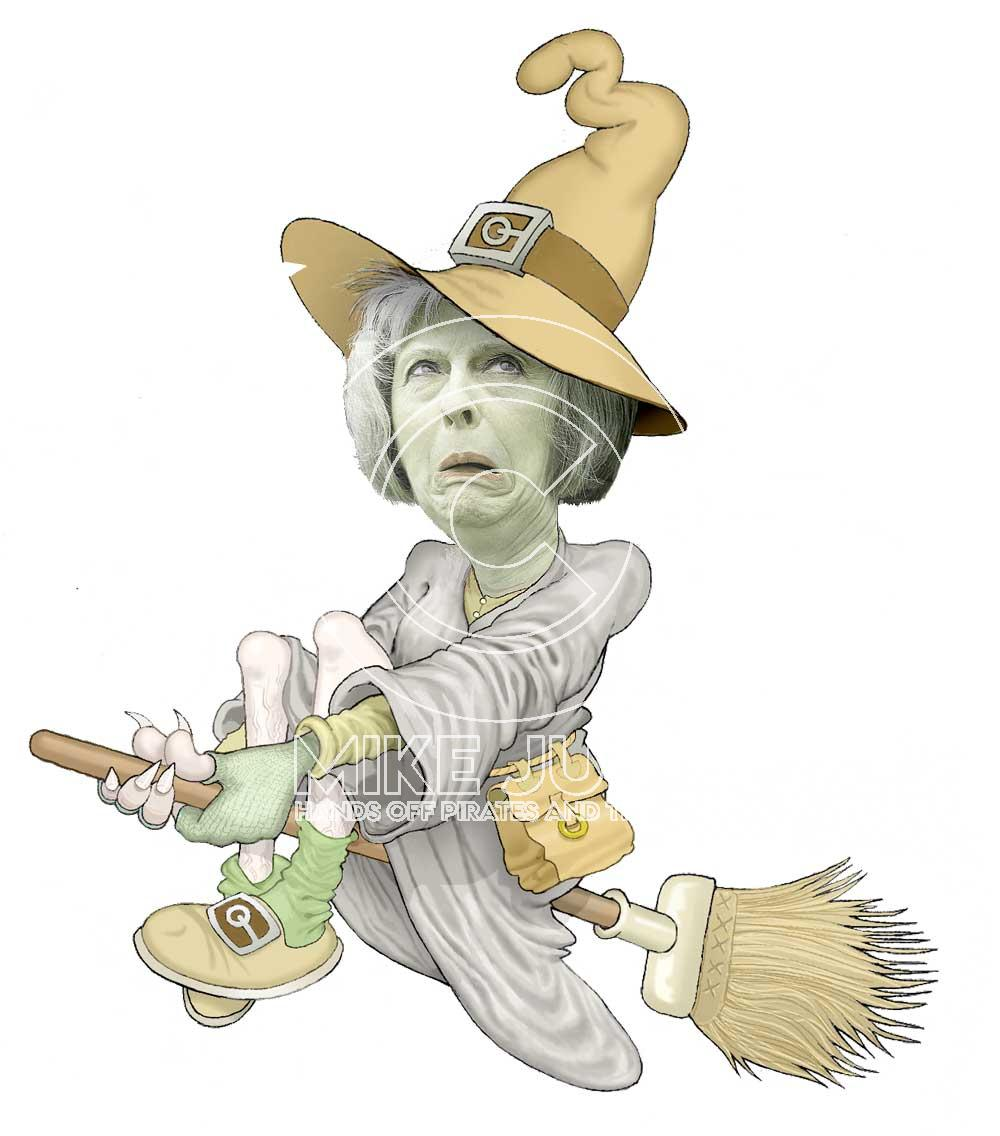 Brexit - Halloween May Witch