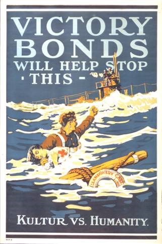 Poster issued after the U-86 atrocity