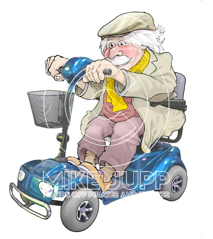 Shopmobility Scooter - old Man