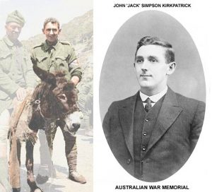 Murphy the Donkey and 'Jack' Kirkpatrick